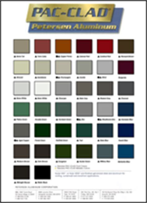 pac clad color chart englert color chart