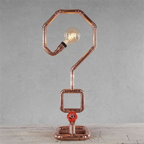 copper pipe art copper pipe table l mt50011 in table ls from lights