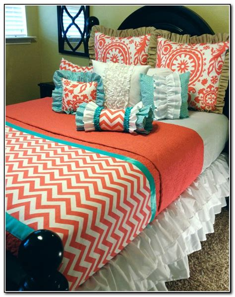 coral chevron bedding coral chevron bedding set beds home design ideas