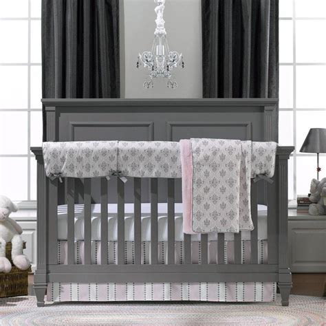grey and pink crib bedding pink and gray baby bedding baby girl crib bedding liz and roo