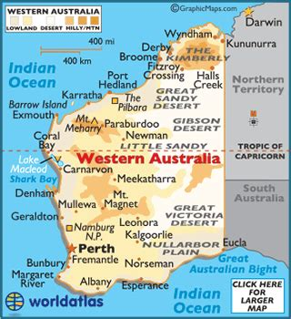 map of western australia with cities and towns western australia facts on largest cities populations