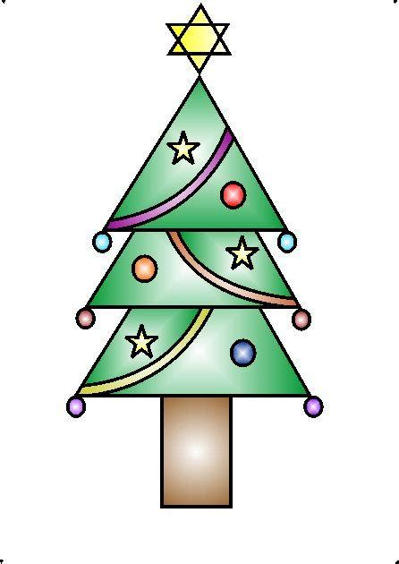 how to draw a decorative christmas tree using geometrical