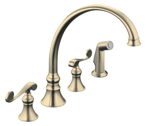 bronze kitchen sink faucets kohler revival kitchen sink faucet in vibrant brushed