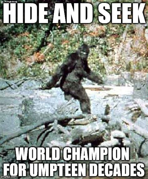 Hide And Seek Meme - bigfoot imgflip