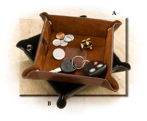 mens leather valet tray desk tidy snapped leather valet tray russell s for men