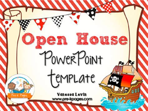 open house powerpoint template pirate open house powerpoint pre k pages