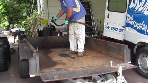 boat trailer rust prevention waterproof rusty trailer youtube