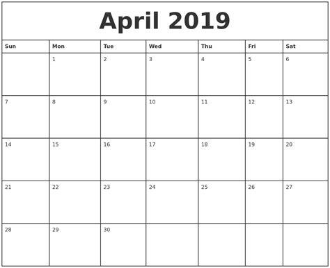printable monthly calendar 2019 august 2019 monthly calendar template