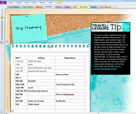 travel planning trip vacation printable planner tool template