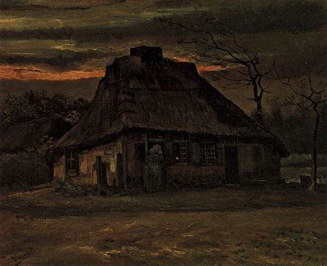 the cottage painting vincent gogh the paintings the cottage