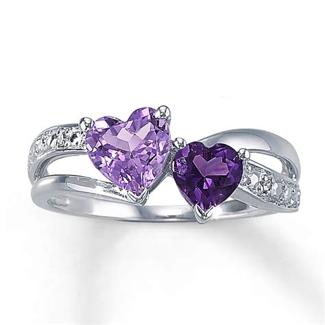 jewelry rings jared amethyst ring shaped sterling silver
