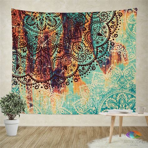 tapestry home decor mandala tapestry mehendy henna ethno mandala wall
