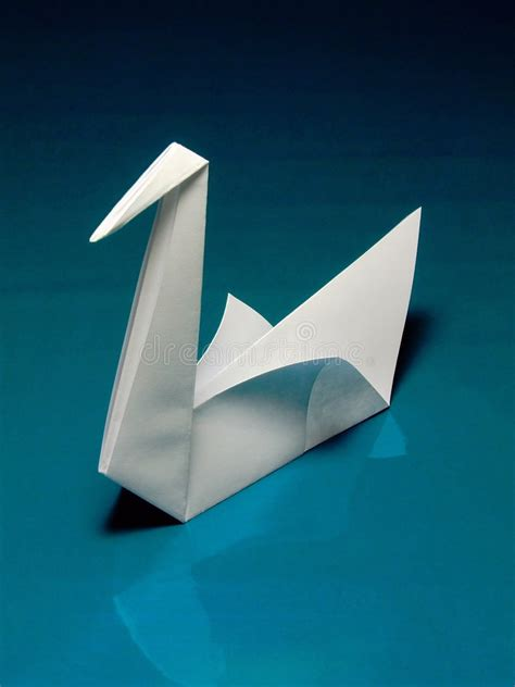 Japanese Origami Swan - origami swan stock image image of activity design fold