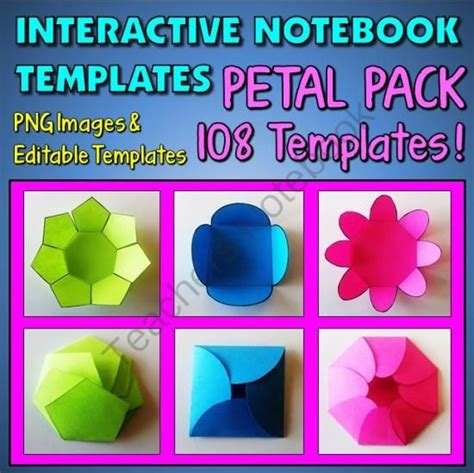 templates for interactive notebooks interactive notebook templates petal pack 108