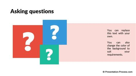 html question layout must contain a question flat design templates powerpoint closing slides