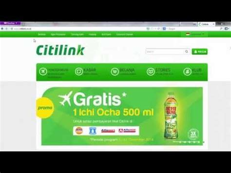 citilink online check in full video cara web check in di website citilink