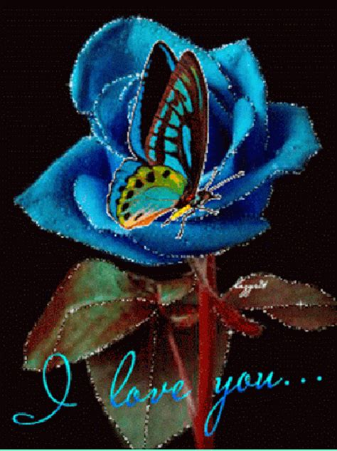 imagenes de i love you en movimiento imagenes animadas de una rosa con una mariposa y la frase