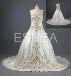 white gold wedding dresses white and gold wedding dress best dress choice