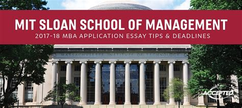 Uw Foster Mba Deadline by Mit Sloan Mba Application Tips Deadlines The Gmat Club