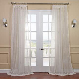 overstock sheer curtains linen open weave cream sheer curtain panel