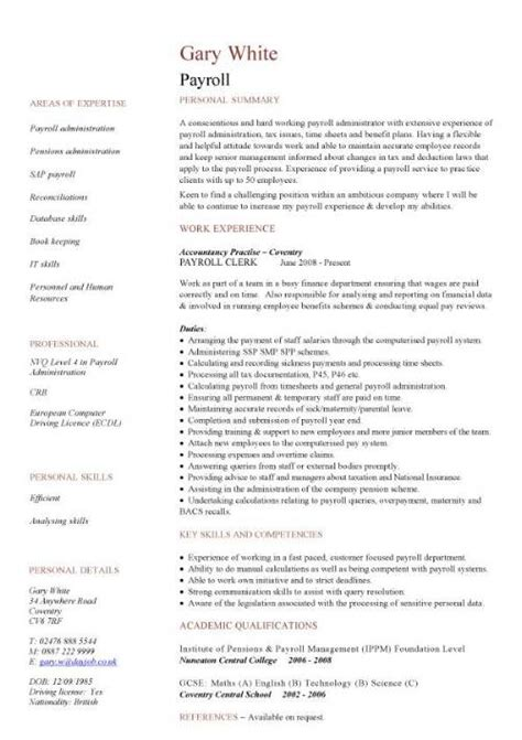 Financial CV template, Business administration, CV