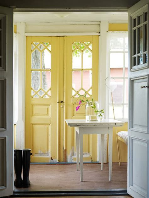 Yellow Front Door | the yellow front door a cheerful entrance