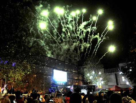 town centre big christmas lights switch on