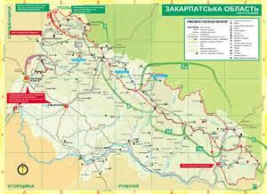 hiking trails map transcarpathia hiking trail map mappery