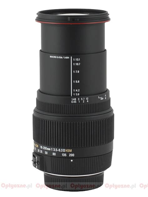 Sigma 18 200 Canon lenstip lens review lenses reviews lens specification lenstip