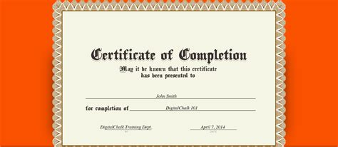 design a certificate of completion sle certificate of completion templates gallery