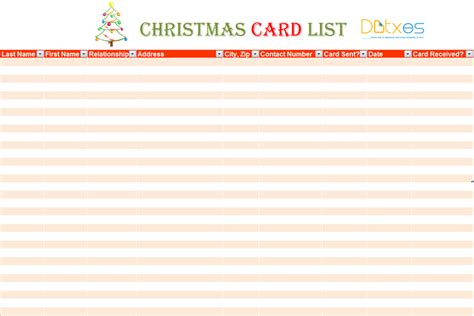free card address list template card list template for excel 174 dotxes