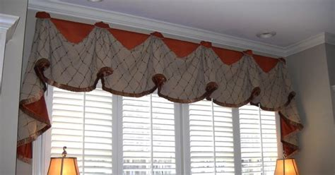 #windowtreatments Our Rio valance with long jabots over #