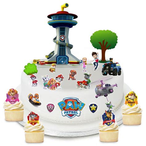 Paw Patrol Cake Decorations by Paw Patrol Edible Wafer Card Cake Topper