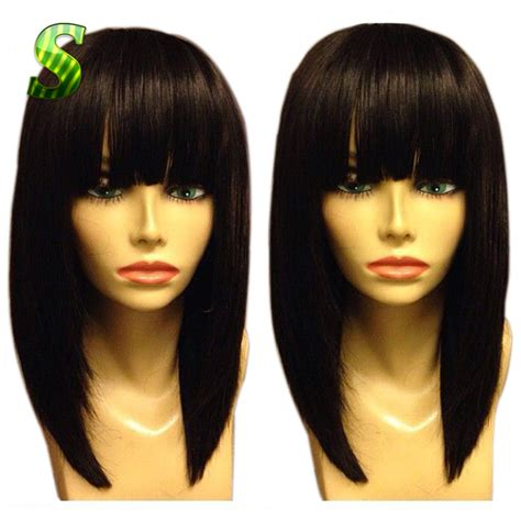 Bob Wigs Human Hair Black Women | short human hair bob wig brazilian virgin hair straight