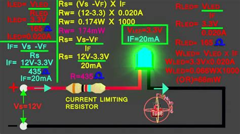 resistors in series with led 3 3v led how to connect 12v circuit how to calculate led series resistor watts volt s