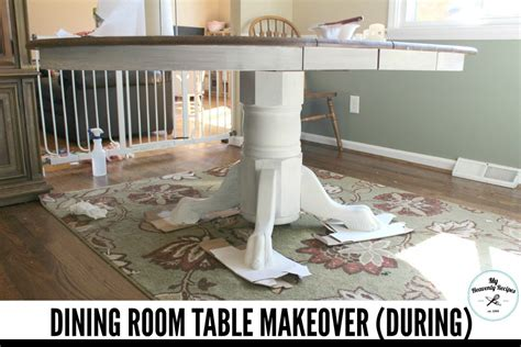 Dining Room Table Makeover Farmhouse Inspired Dining Room Table Makeover My