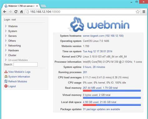 installing xp on centos 7 install webmin centos 7 zivo nix blog