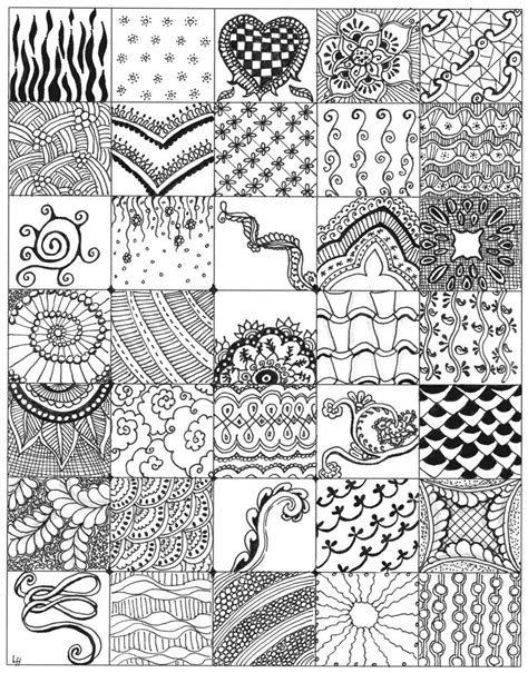 doodle lines cheats my zentangle bits 01 while my 4 zentangles