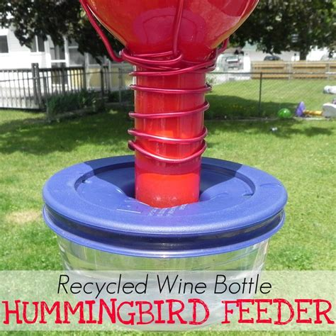 wine bottle hummingbird feeder mad in crafts