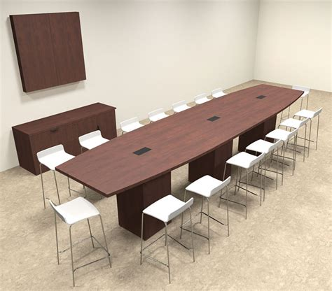 Bar Height Conference Table Boat Shape Counter Height 16 Conference Table Of Con Ct21 Ebay