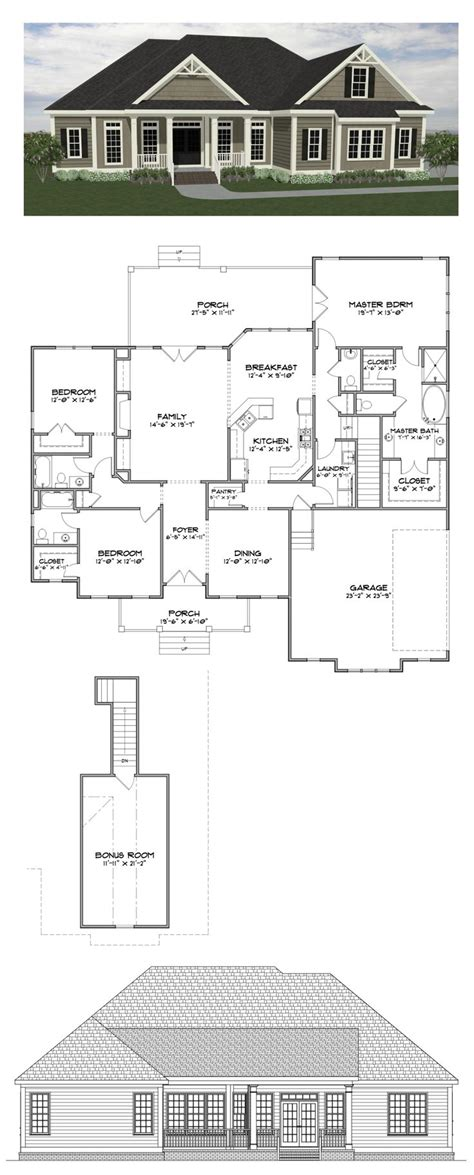 All In The Family House Floor Plan | home plans with bonus room bedroom floor house plan best