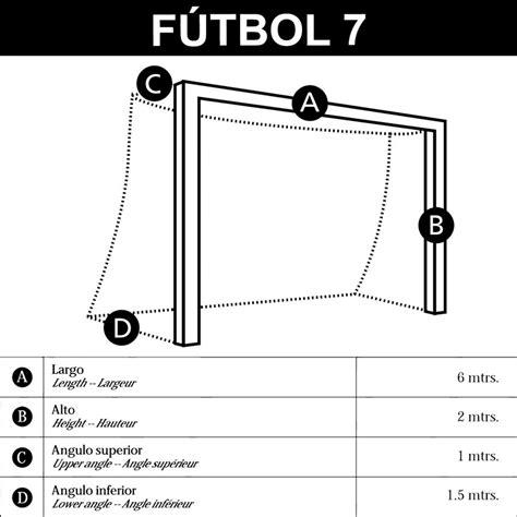 porteria de futbol sala medidas juego redes porter 237 as f 250 tbol 7 basic mundosilbato