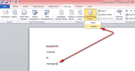 Membuat Mail Merge Di Word 2010 | cara membuat mail merge di ms office word 2007 2010