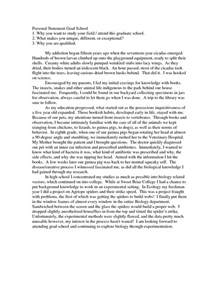 personal statement for graduate school template sle personal statement for graduate school application