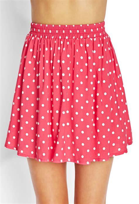 polka dot skater skirt kids forever 21 polka dot skater skirt in pink lyst