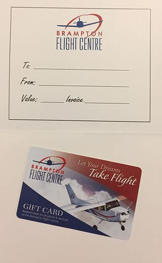 Flight Gift Card - gift card for classic introductory flight brton flight centre
