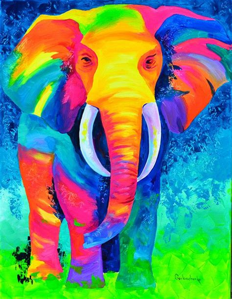 best 25 colorful elephant ideas on paintings of elephants elephant and