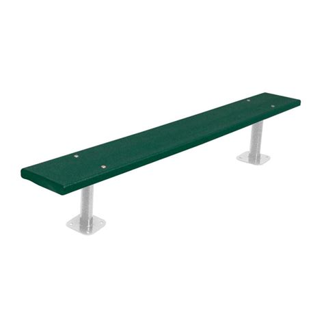 green plastic garden bench ultra play 6 ft green commercial park recycled plastic