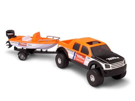 off road hauler with boat trailer kids woot - Toy Boat With Trailer