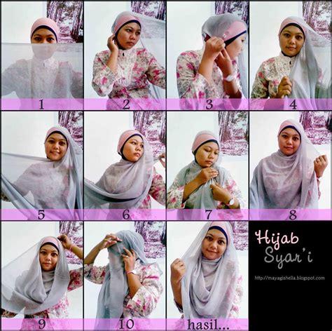 tutorial hijab syar i kerudung paris hijabers tutorial sakinah brownie si hijab berbahan kaus